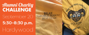 Alumni Charity Challenge - Wednesday, September 20 5:30 - 8:30 p.m. @ Hardywood Park Craft Brewery